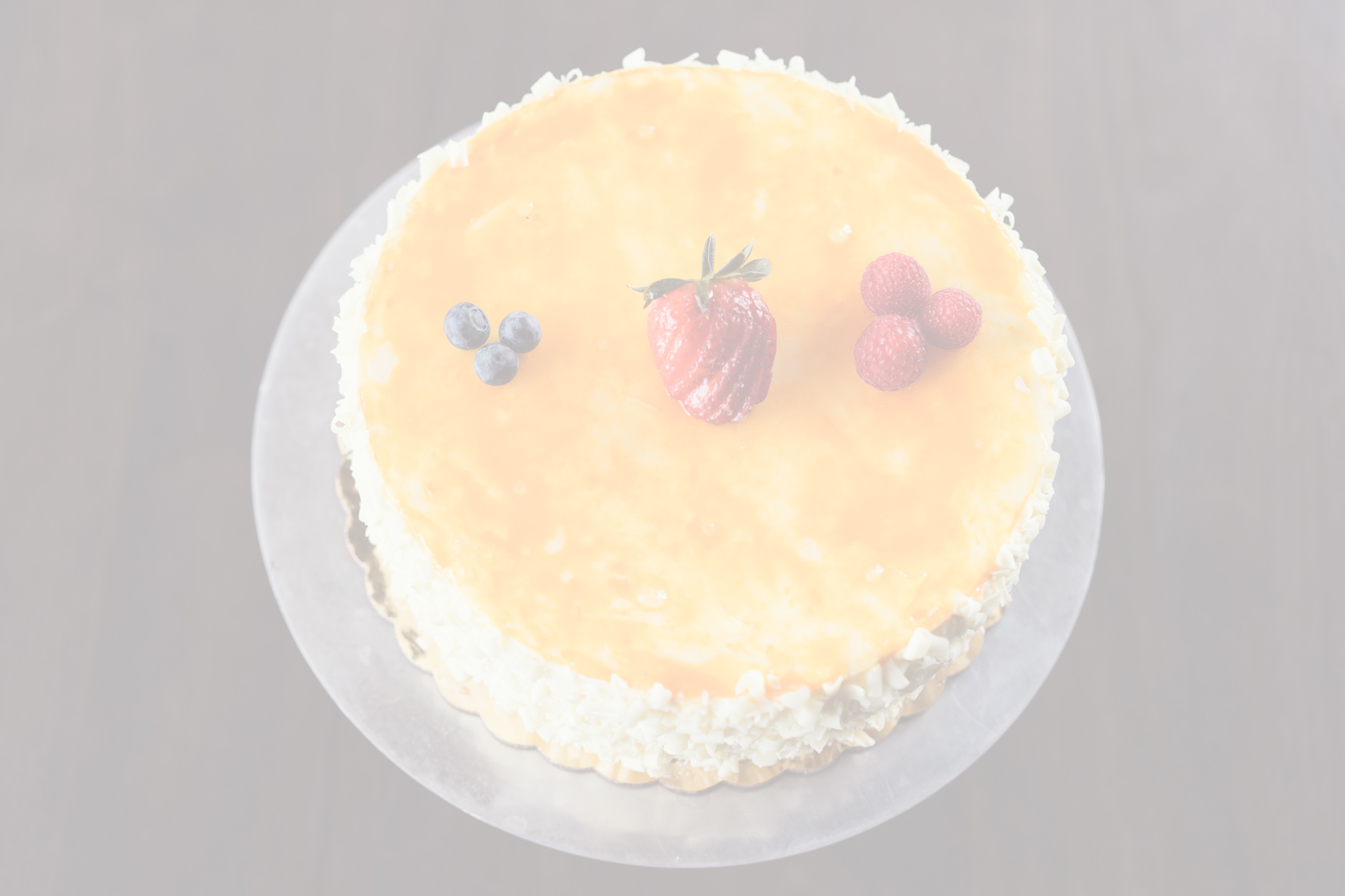 Passionfruit Mousse$43.95 - Layers of yellow cake and passionfruit mousse.