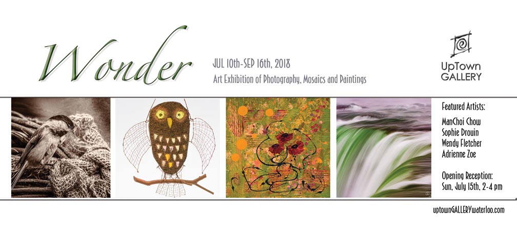Join us for Opening Reception, July 15, 2-4 pm Uptown Gallery Waterloo