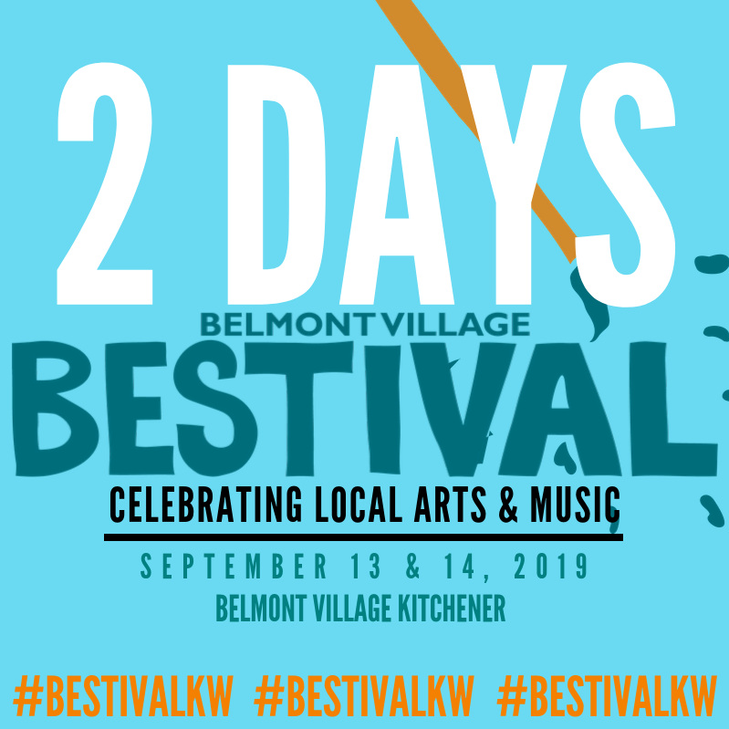 See you in Belmont Village, Kitchener. Parking at Catalyst 137 (Glasgow Ave)