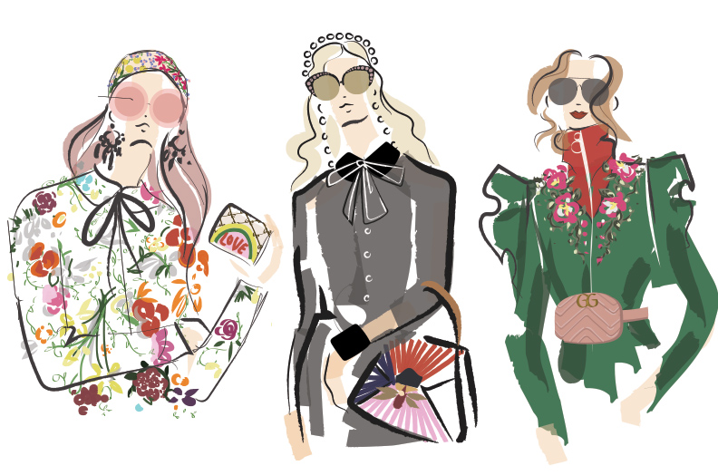 Commissioned Gucci x Goop Illustrations, 2017