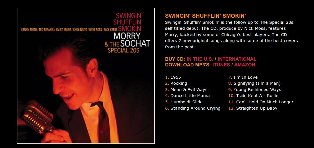 Humboldt Slide was featured on Special 20s' Swingin' Shufflin' Smokin' Album
