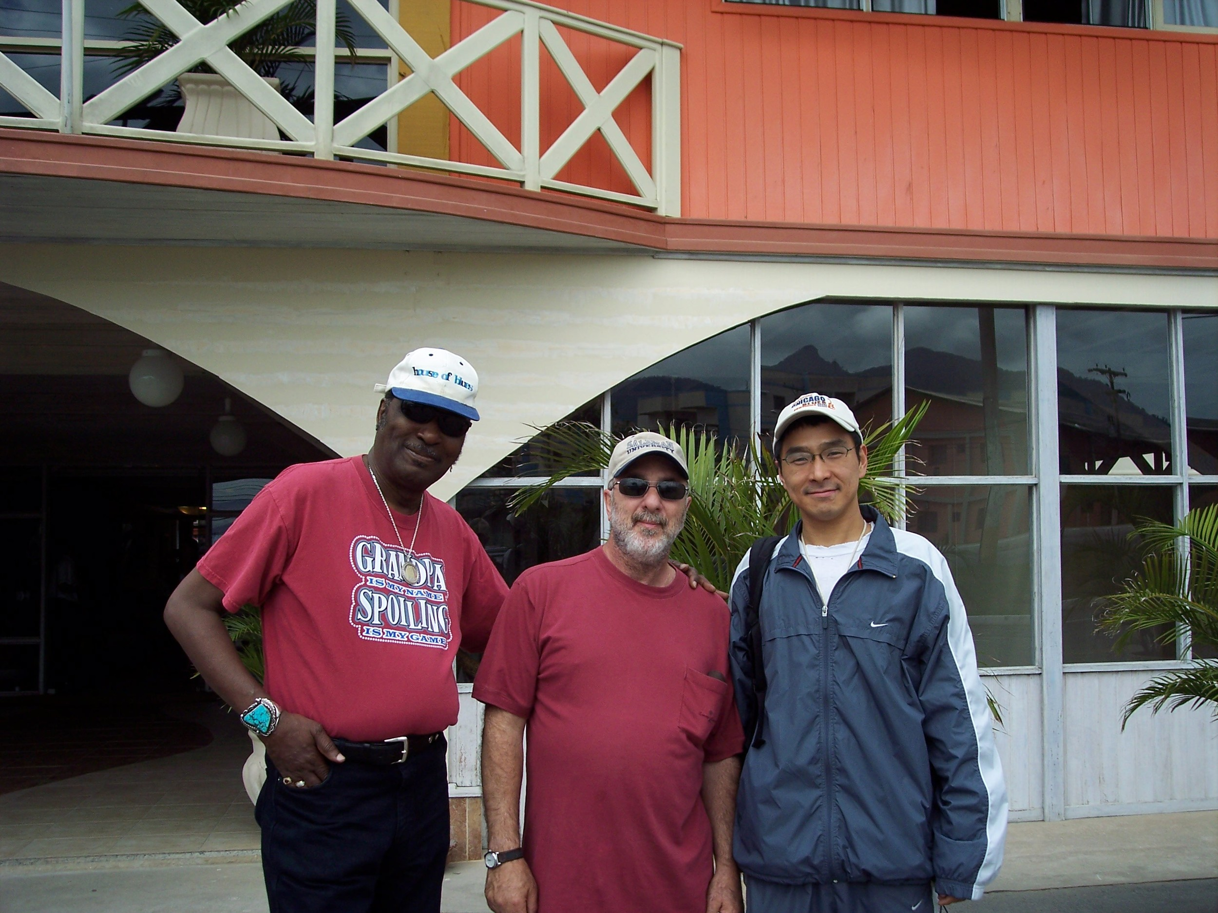 Eddy Clearwater, Marty Salzman and Shoji in Brazil