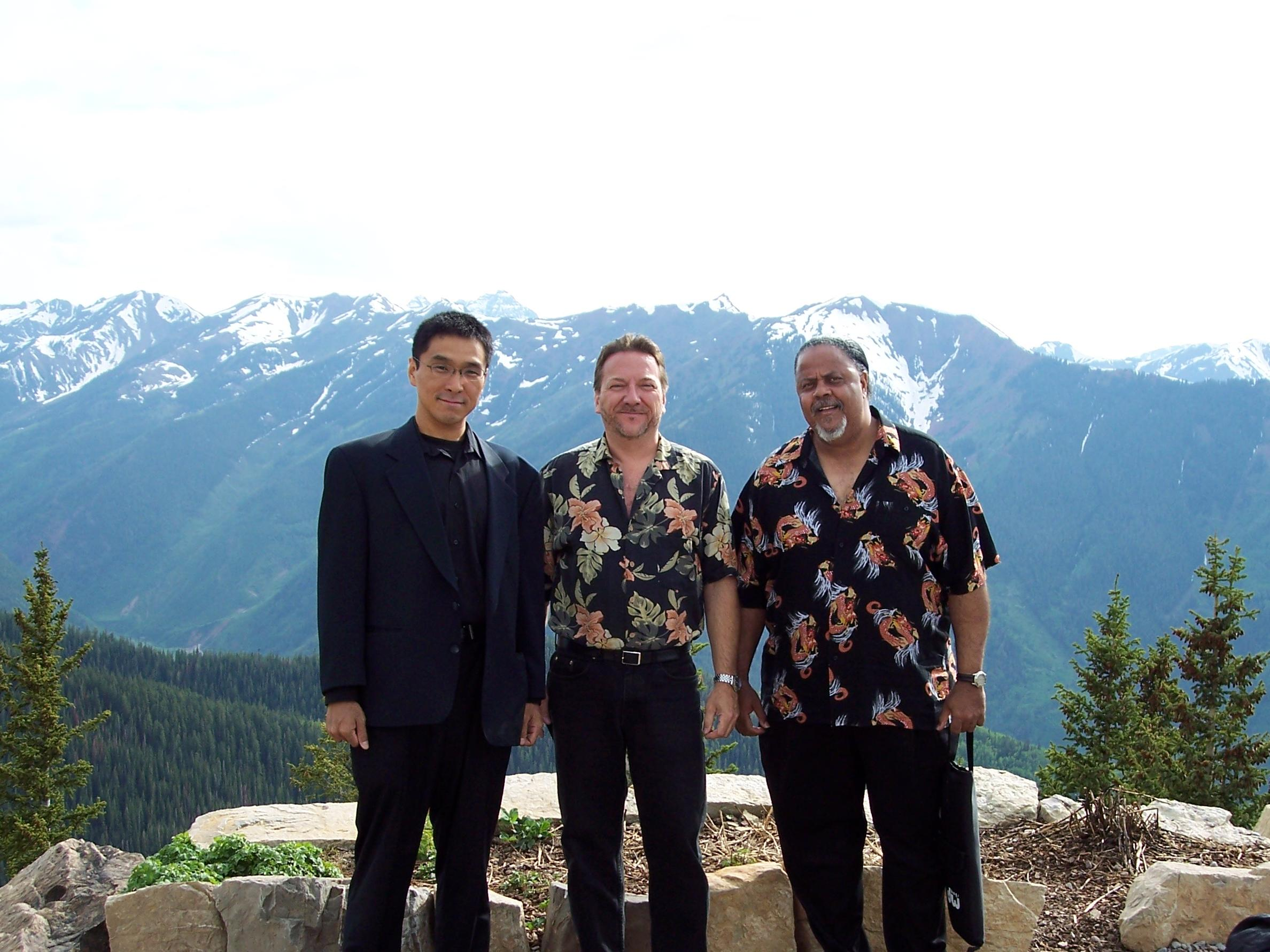 Shoji, Mark Wydra and Merle Perkins in Aspen Colorado