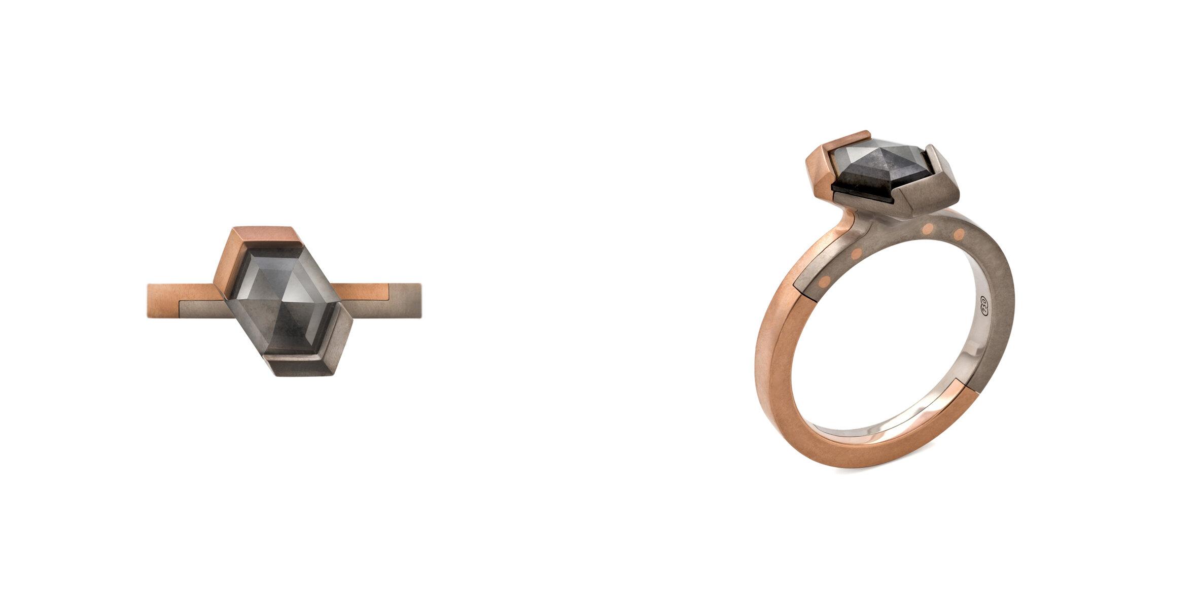 Offset Hexagonal Diamond Solitaire