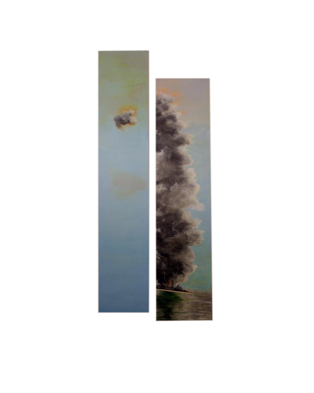 "AE_18    oils, graphite, wood, 72x26"""