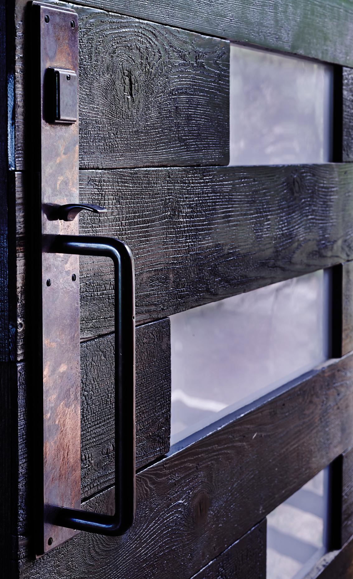 Exquisite Shou-Sugi-Ban Entry Door