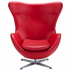 Inner Egg Chair In Red Leather