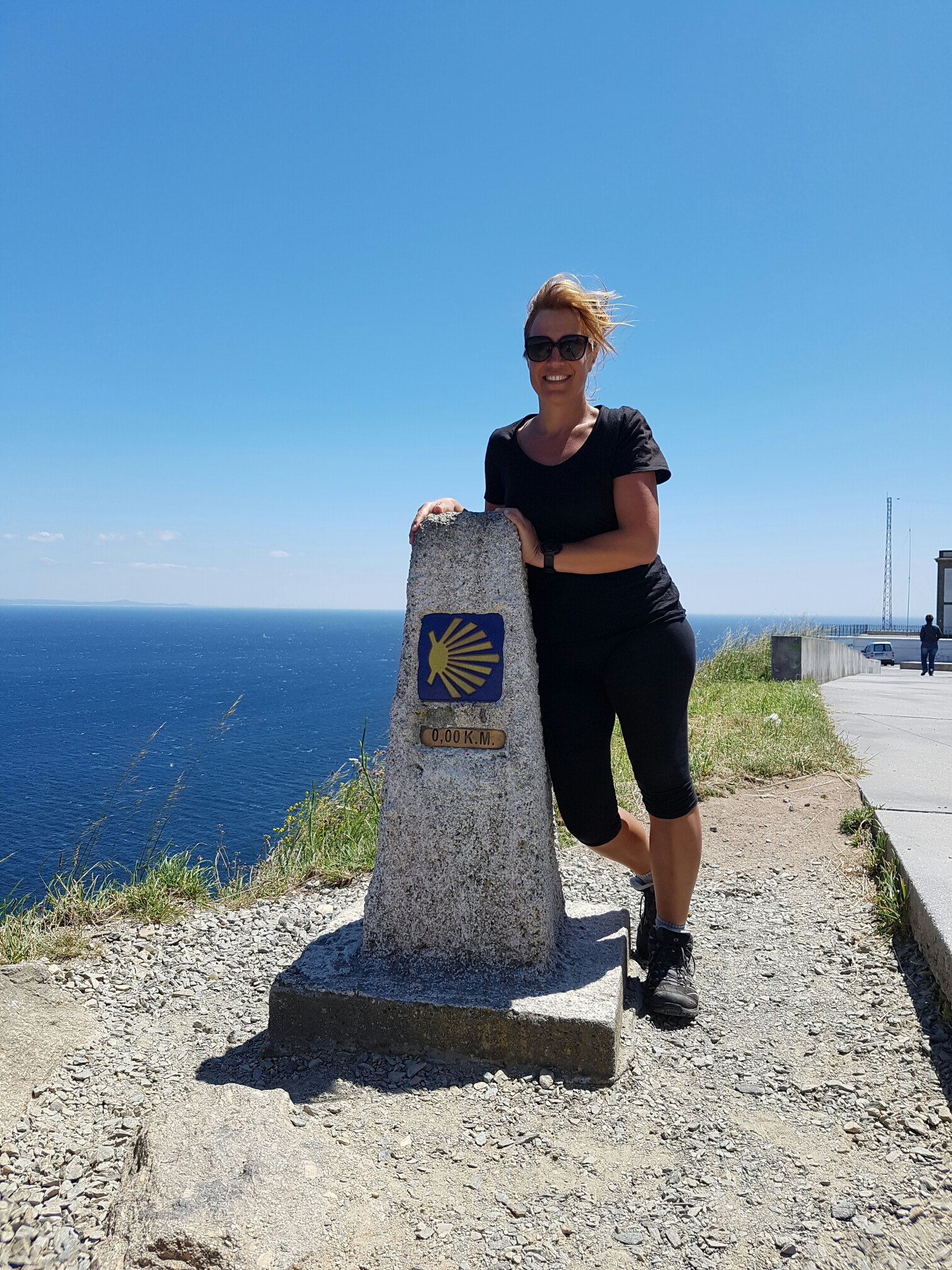 ...and at the 0km mark at Fisterra, Spain after 900km of walking!