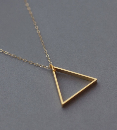 Fawn and Rose  // Single Triangle Necklace - £15.00