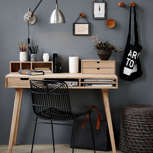 IMAGE CREDIT | Hübsch - Desk £464.00 from  peastyle
