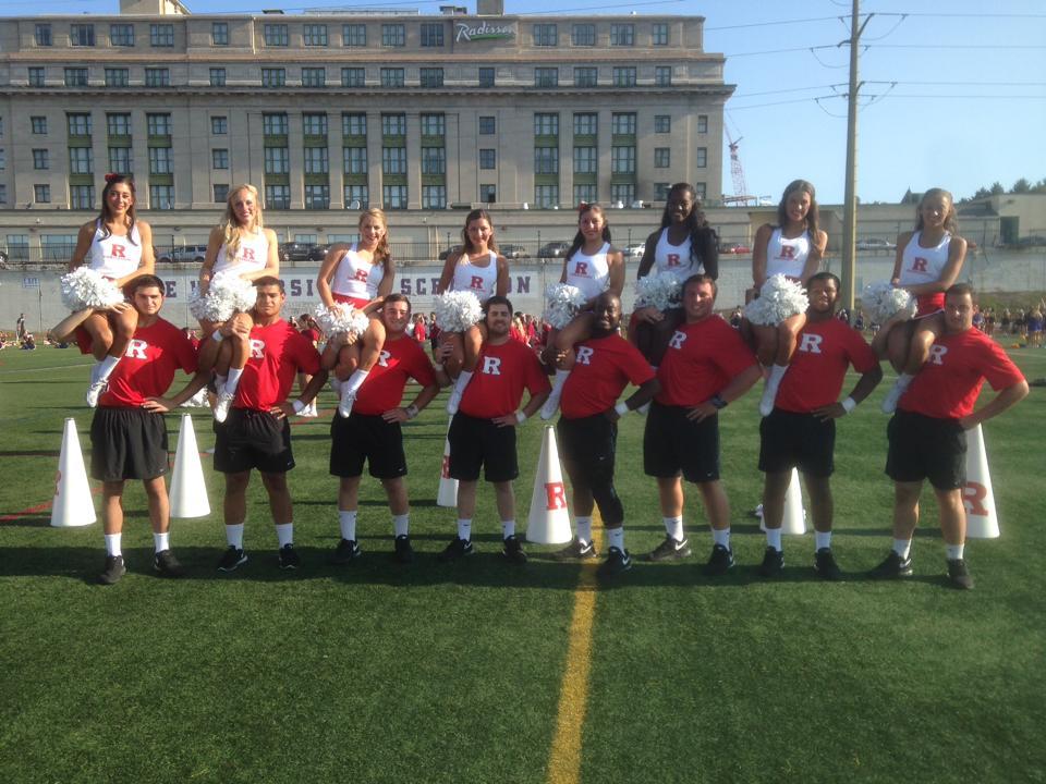 Coed Cheerleaders at camp in Scranton, PA