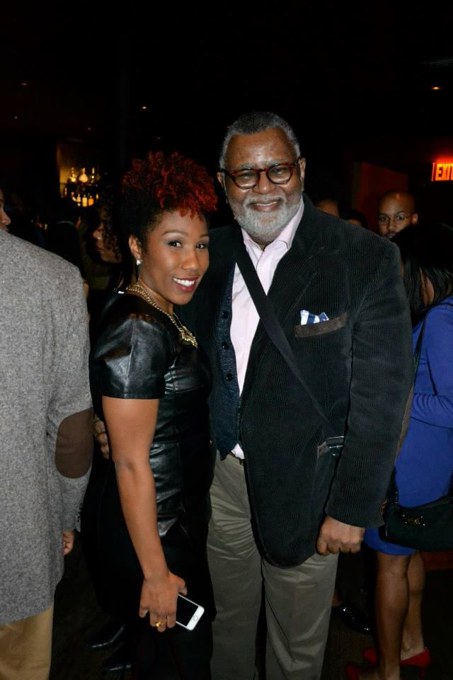 Zoe' Zeigler of CurlzAndTheCity.com with The Cecil owner Alexander Smalls.