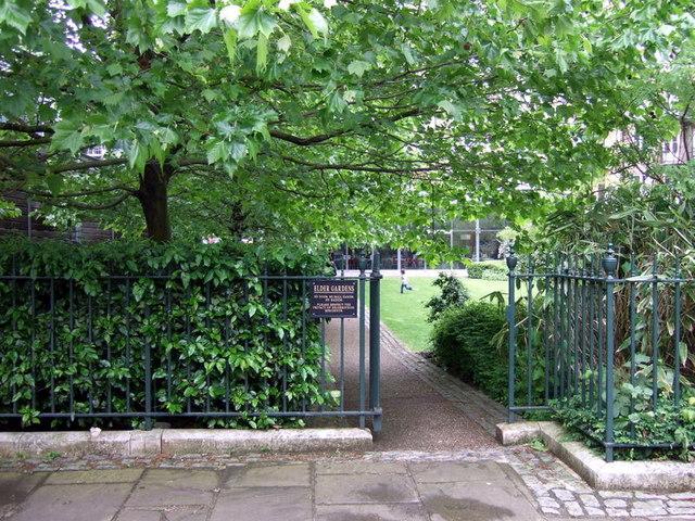 Elder Gardens is bisected byNantes Passage