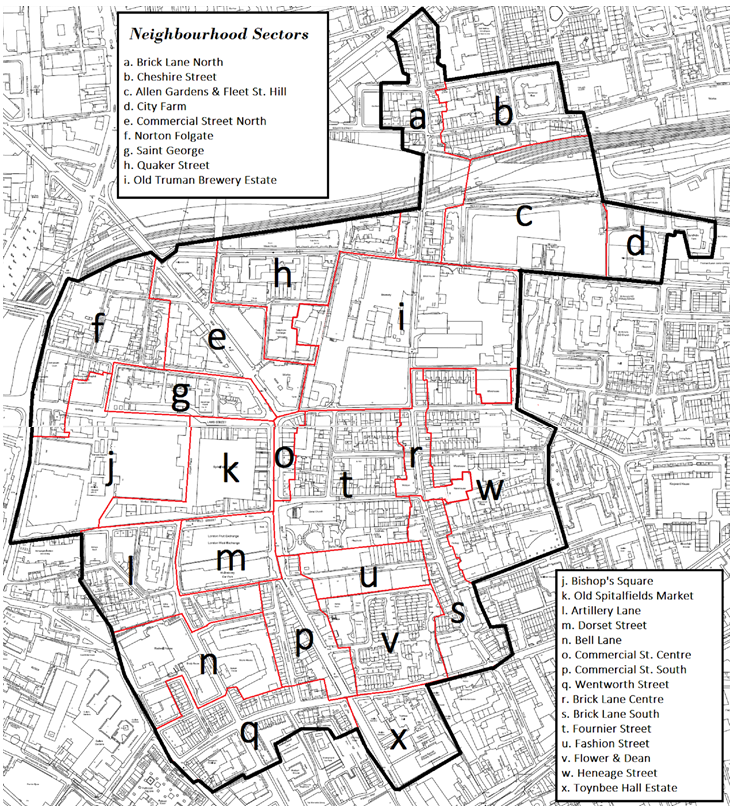 Appendix A: Map of the Twenty-Four Neighbourhood Area Sectors as agreed in Motion A (Consultation Strategy)
