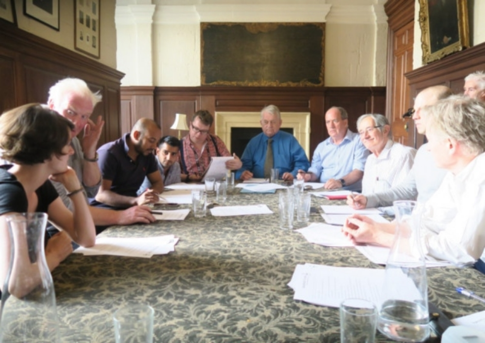 A meeting of the forum council in the old parish vestry room.