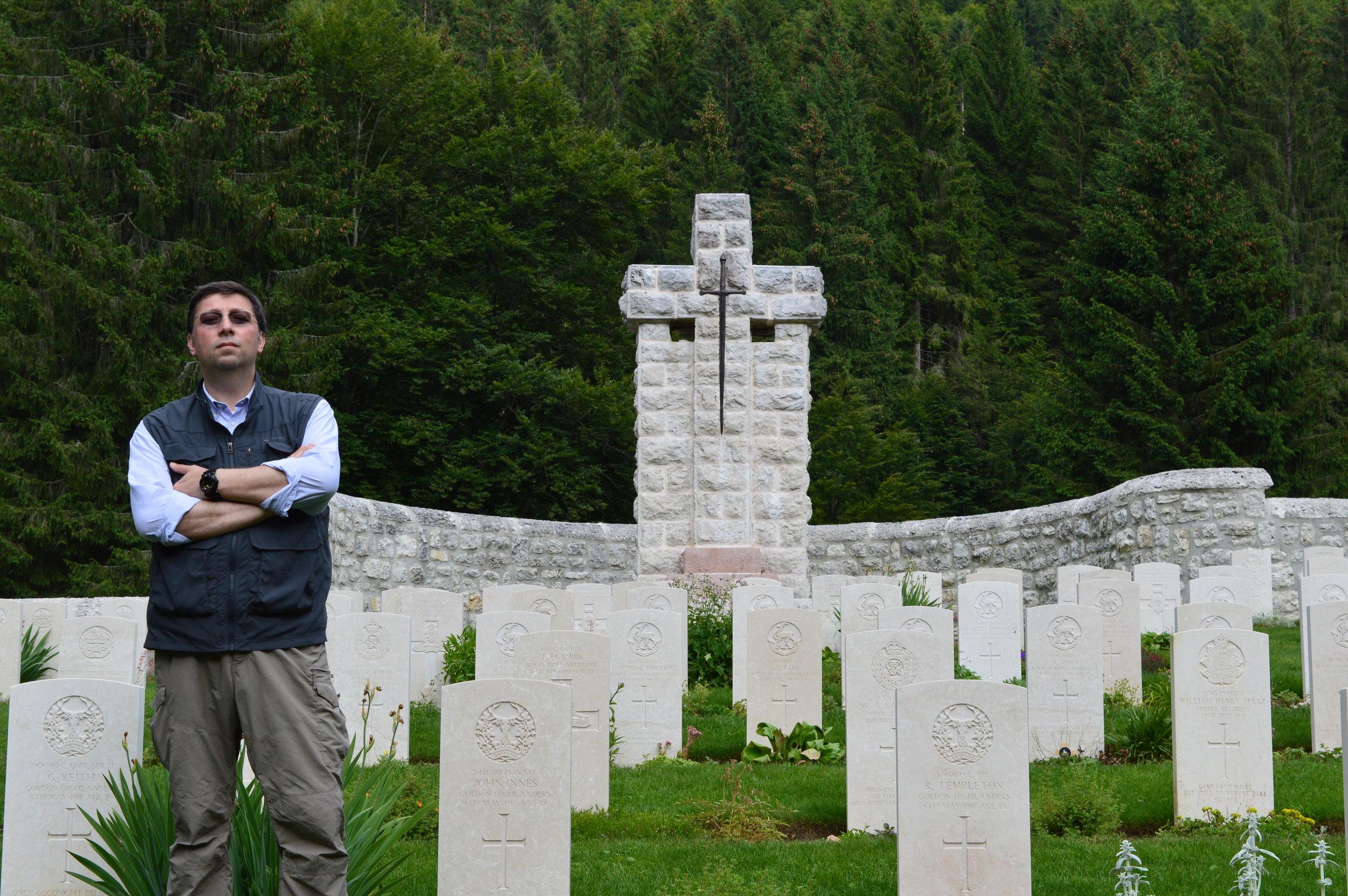 Una visita ai Caduti in occasione del Centenario della Battaglia sull'Altopiano del 15 giugno 1918