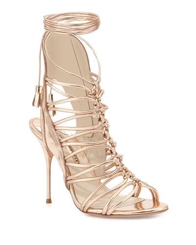 Sophia Webster Rose Gold Sandals