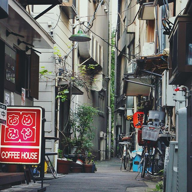 Backstreets of Minowabashi, Tokyo. #tokyo #japan #travel #travelphotography #adventure #urban #hidden #street #bike