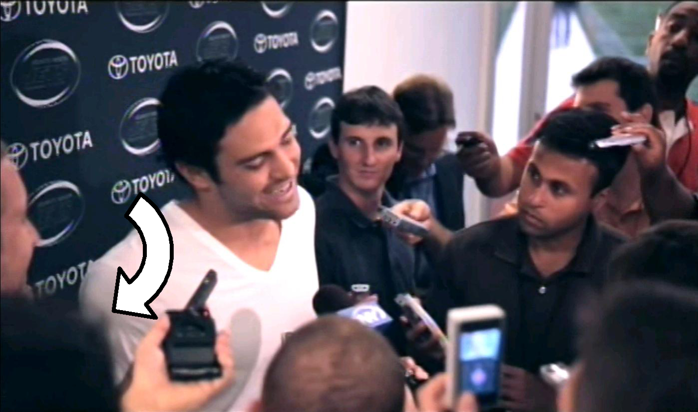 """That time HBO's """"Hard Knocks"""" captured my hair and outstretched palm on film as I recorded Mark Sanchez's """"Rex-has-faith-in-me-and-I-have-faith-in-him"""" answer."""