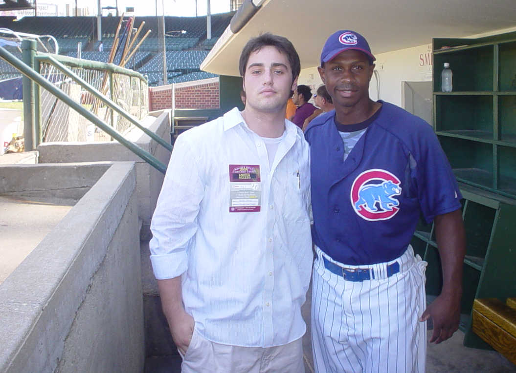 2006: My first game as a reporter, at age 17 and thin. Juan kindly settled my nerves.