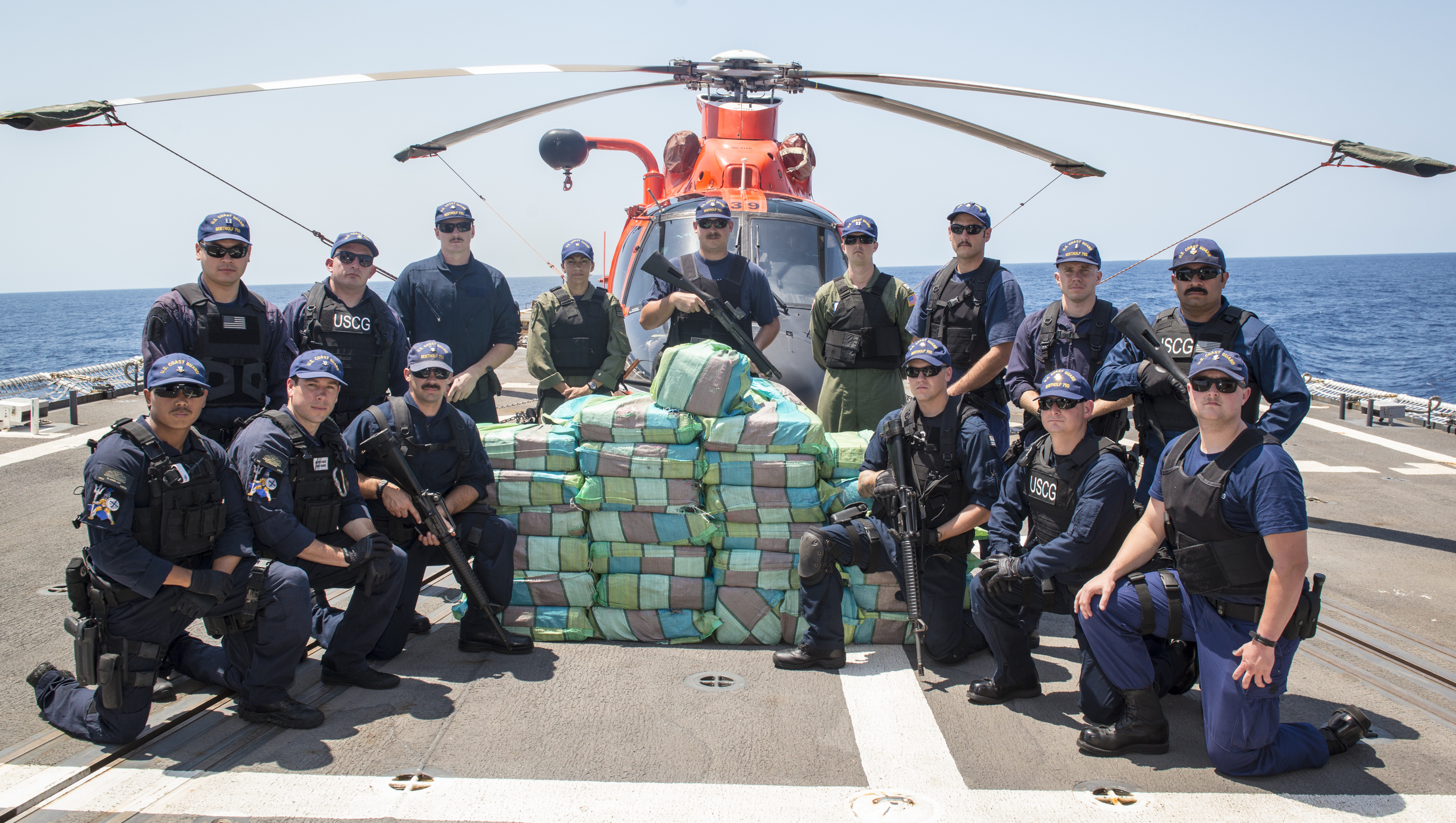 Mens Journal   Drug War On the High Seas: Onboard the Coast Guard's Billion-Dollar Busts  The thwap, thwap, thwap of a rotor's blades is the first indication that the smugglers are screwed. Out in the Pacific, 200 miles southwest of Guatemala, three Ecuadorean men look up to see an orange helicopter locked onto their 35-foot boat. If successful, their weeklong drug run would have netted each of them a year's income. Instead, they are now heaving $25 million of cocaine overboard. We forget that we're still fighting an $85 billion coke war. And these days it's the Coast Guard, the fifth, forgotten branch of the military, that's on the front lines. Between 2010 and 2015 the CG captured more than 500 tons of uncut cocaine, with a wholesale value of nearly $15 billion.
