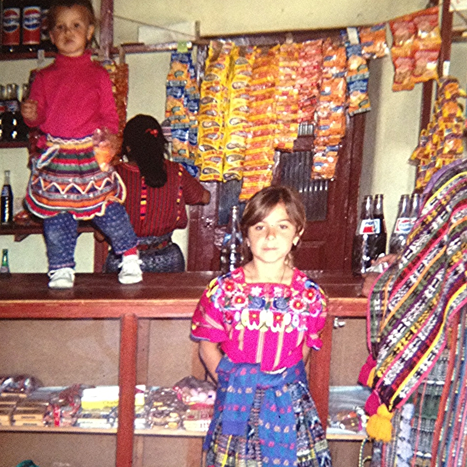 My   sister   & I killing it in   Guatemala  , circa 1991 when we lived by the lake