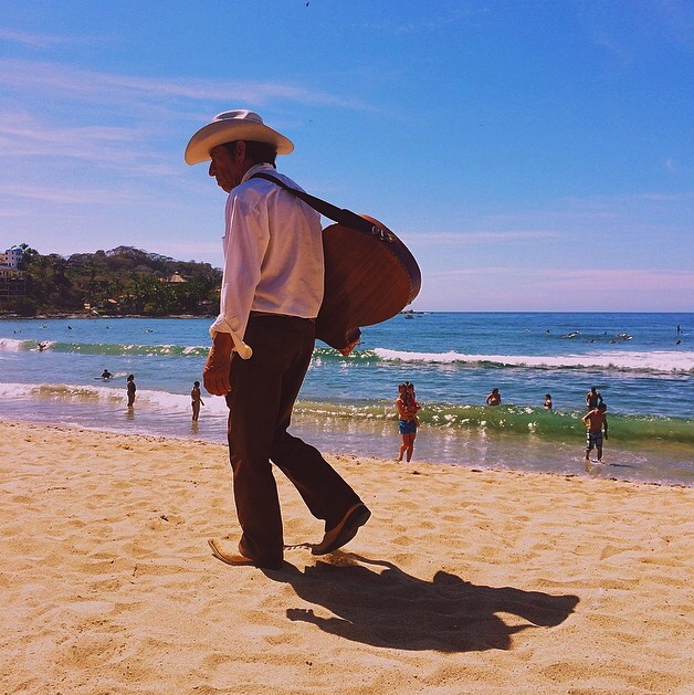 sayulita cowboy on the beach
