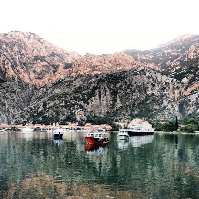 Boats in the bay of Kotor.