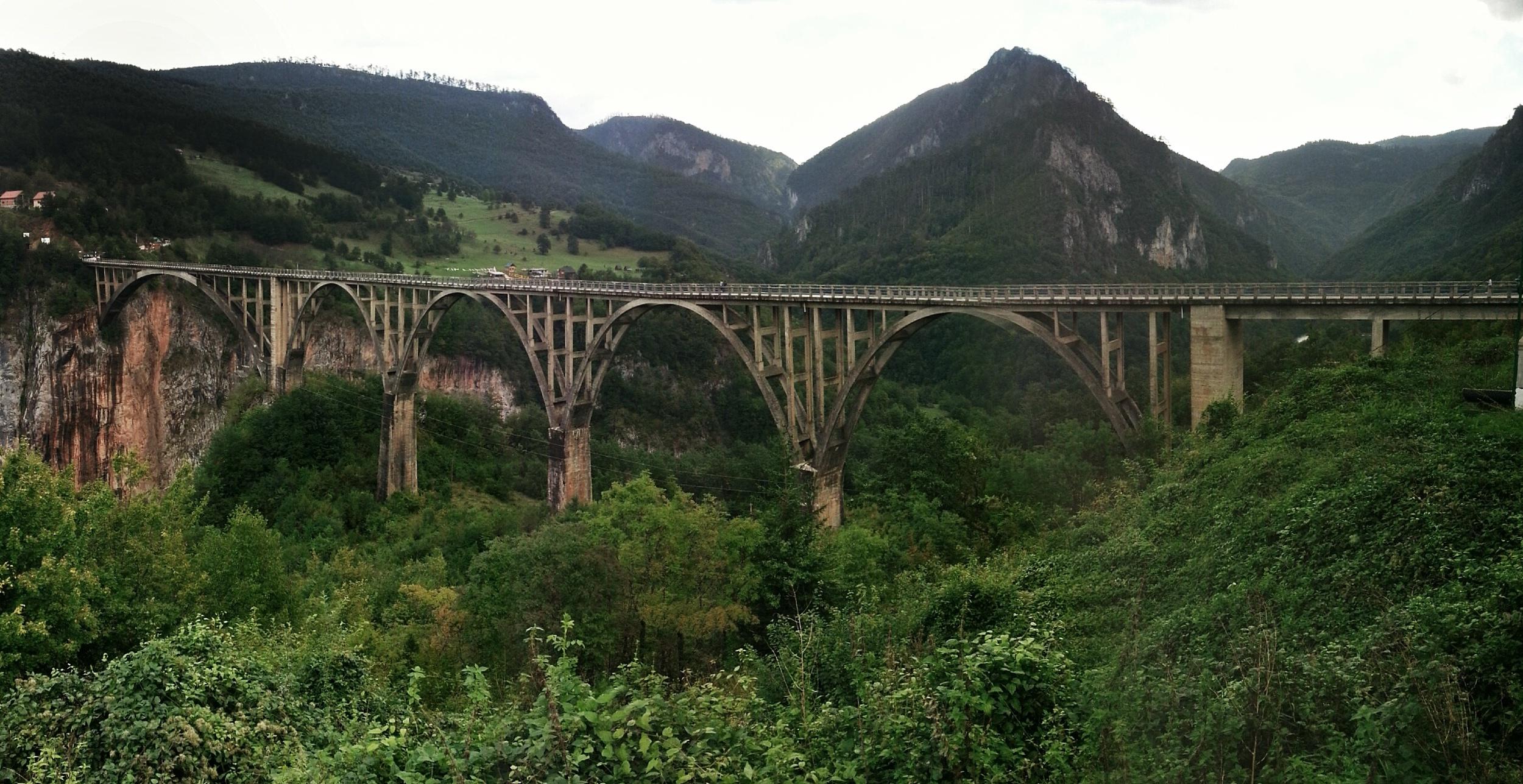 tara river bridge panorama montenegro travel guide