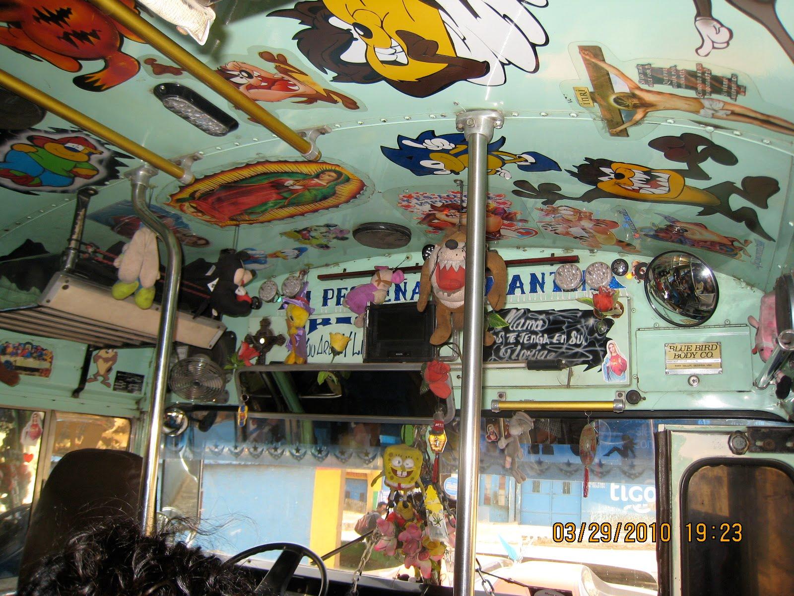 chicken bus decoration guatemala travel guide