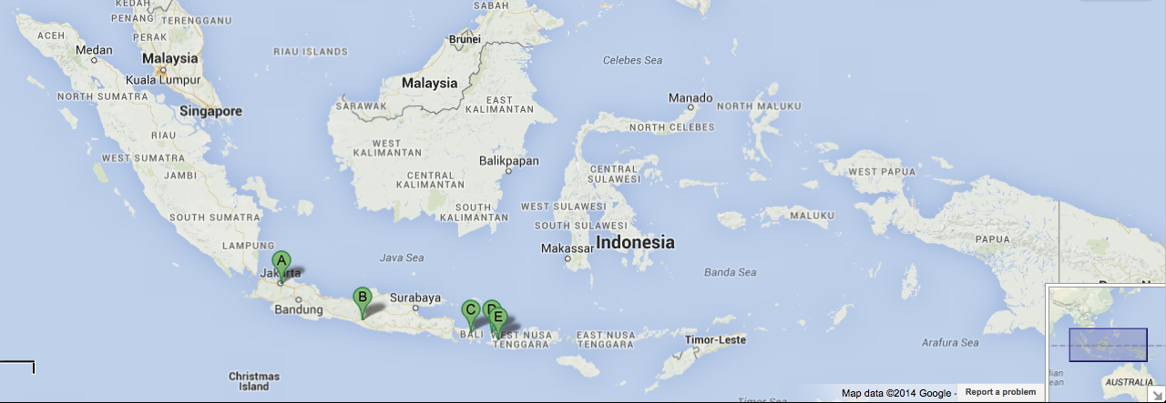 sample indonesia itinerary travel guide