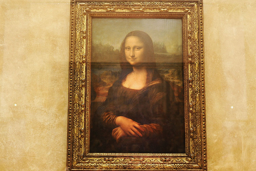 What you think you're going to see at the Louvre, Paris.