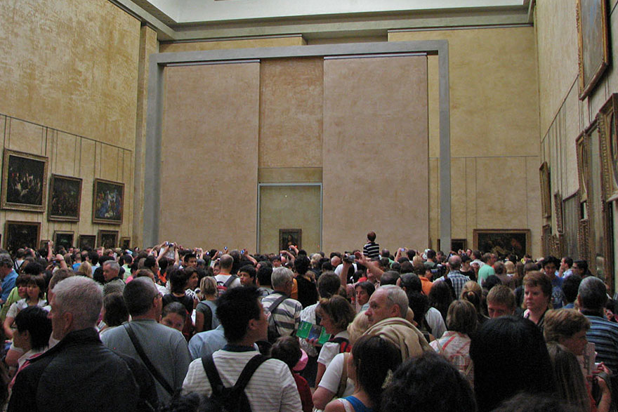 The actual view in the Mona Lisa room.
