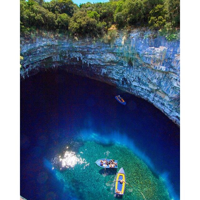 GREECE is the word | How amazing is the #MelissaniCave in #Kefalonia, #Greece? #thinklesstravelmore
