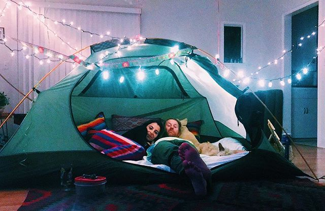 When you can't go camping, so the camping comes to you! 😻 @richardsbrand