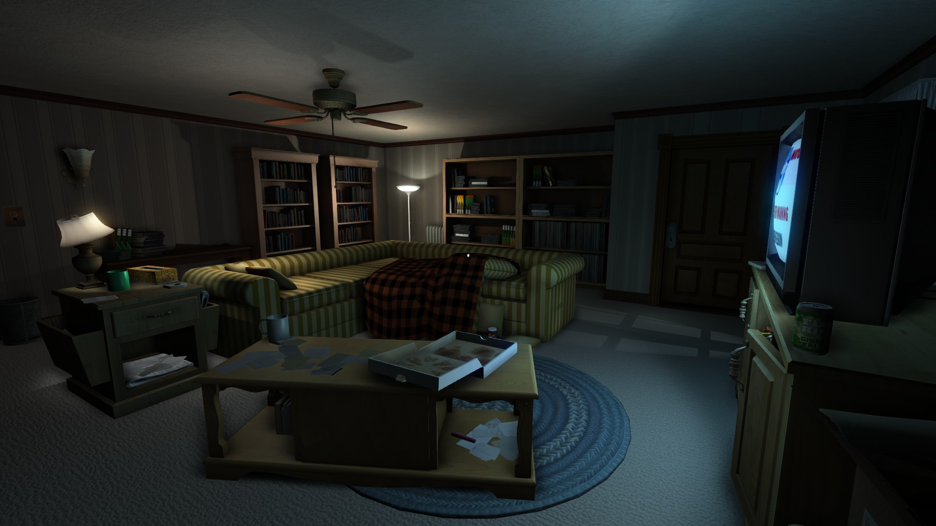Gone Home , TV Room, 2013. Image courtesy of The Fullbright Company.
