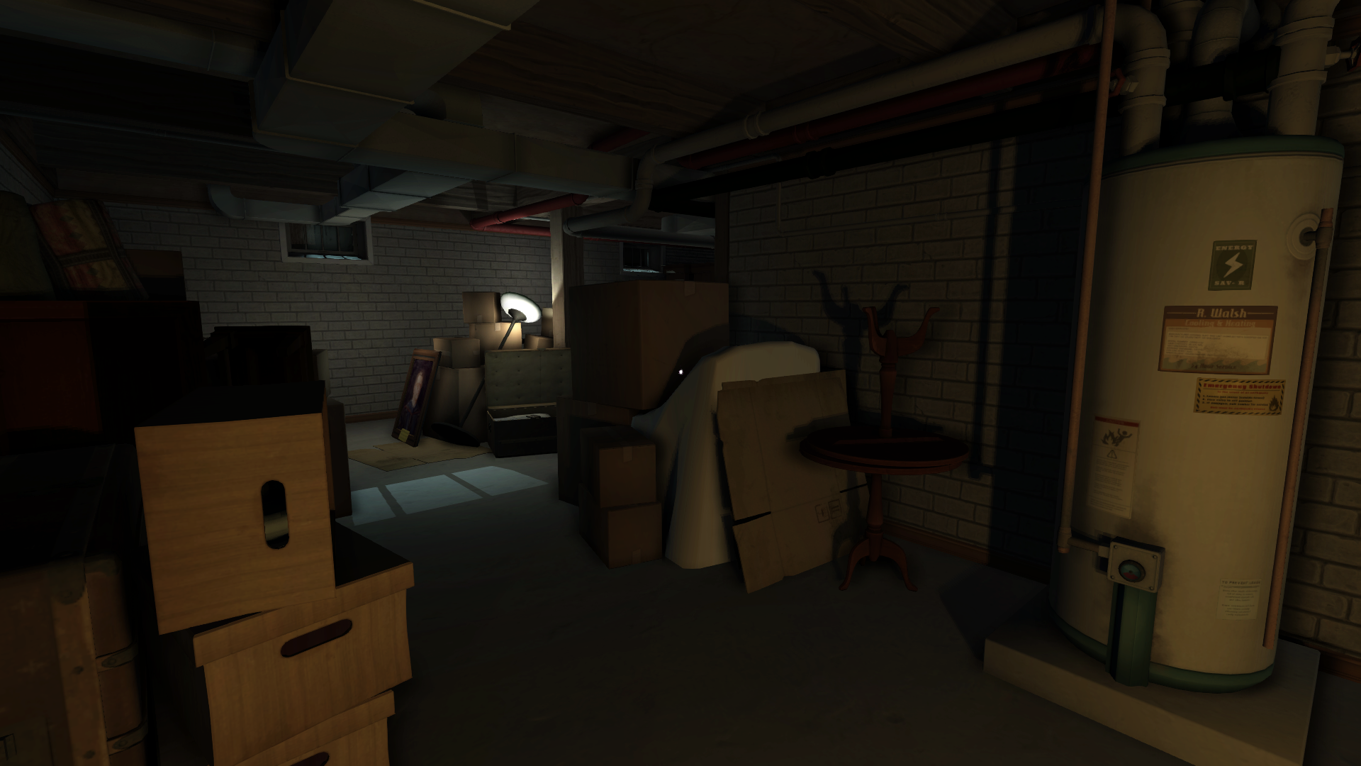 Gone Home , Basement, 2013. Image courtesy of The Fullbright Company.