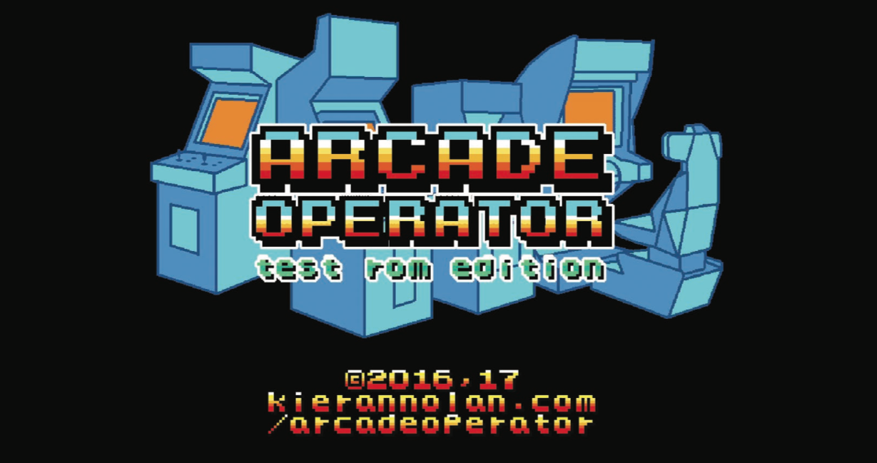 Fig. 1. Kieran Nolan, Arcade Operator, Title Screen, 2017. Image courtesy Kieran Nolan.