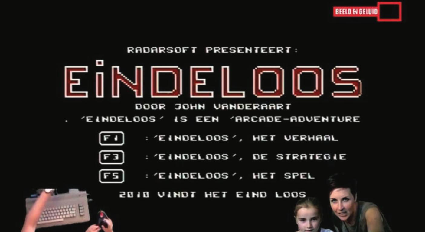 """Screenshot fromYouTube video """"lets play test 1 Eindeloos,"""" Channel Let's Play @ Beeld en Geluid, https://youtu.be/uTp-BxOVDMk"""
