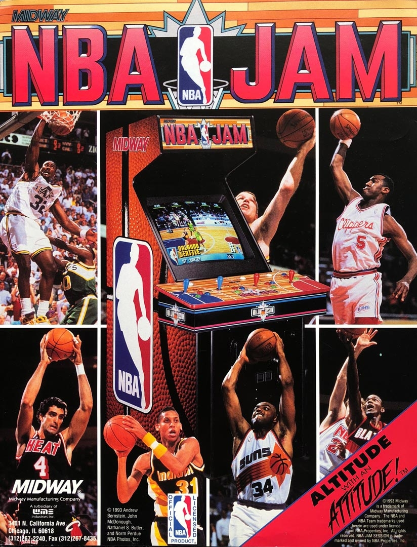 Documentation of NBA Jam promotional material and photography