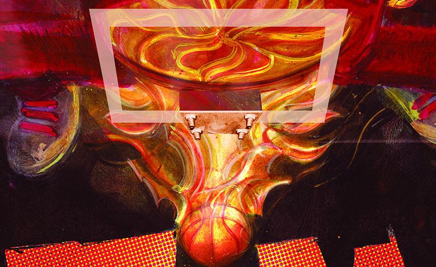 NBA Jam-inspired work by Wilfred Santiago