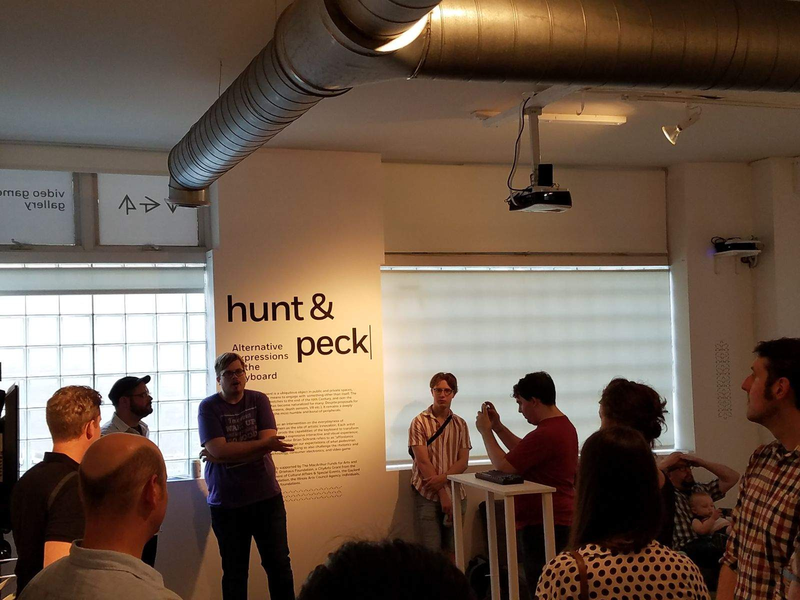 Opening of Hunt and Peck: Alternative Expressions of the Keyboard