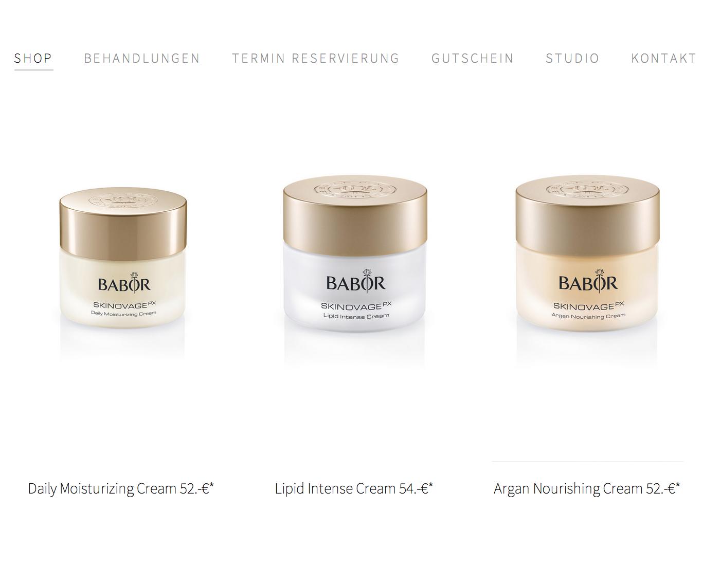 Your Skin Web Shop