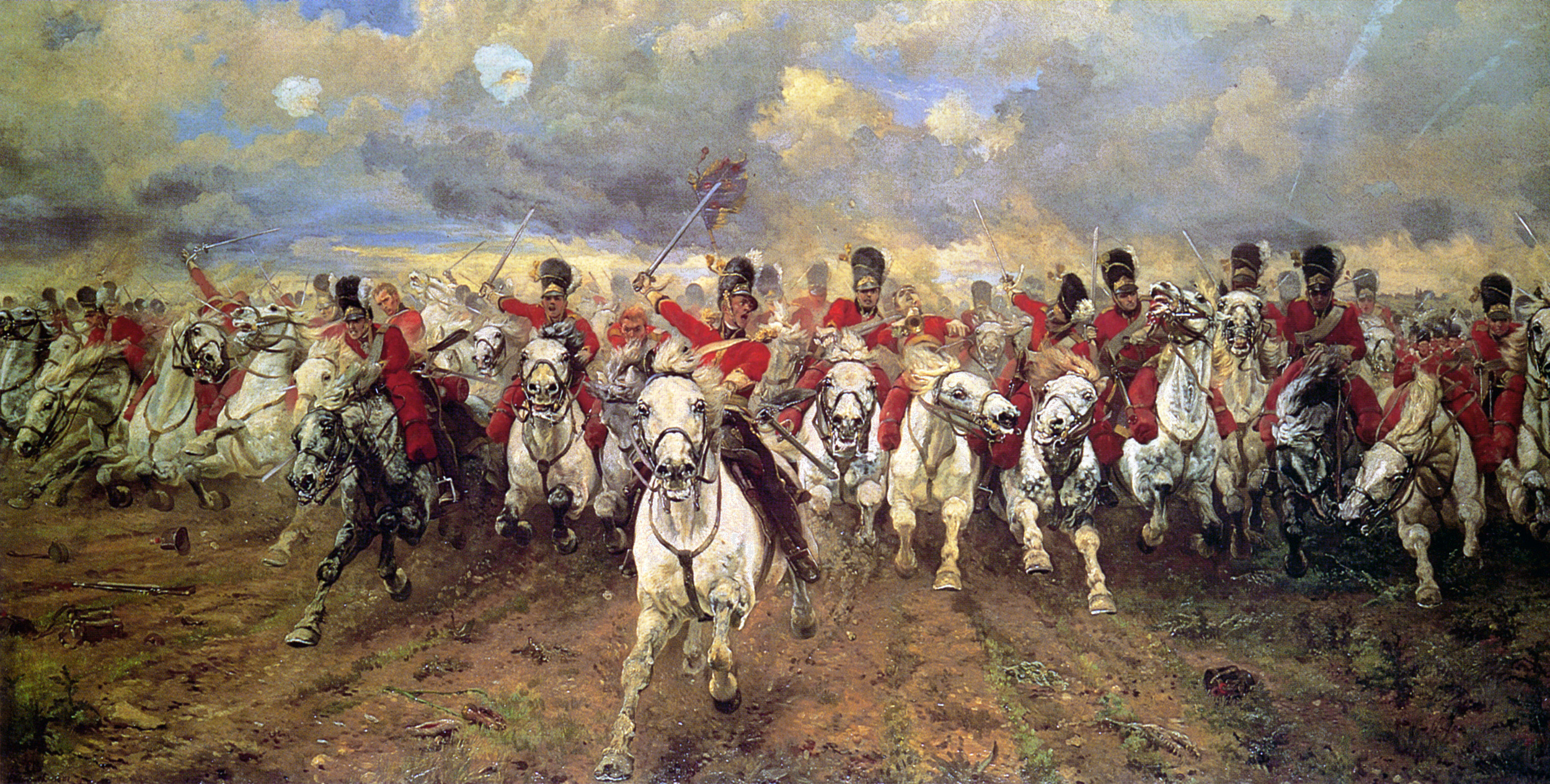 Scotland Forever!     Lady Elizabeth Butler's painting of the Charge of the Scots Greys