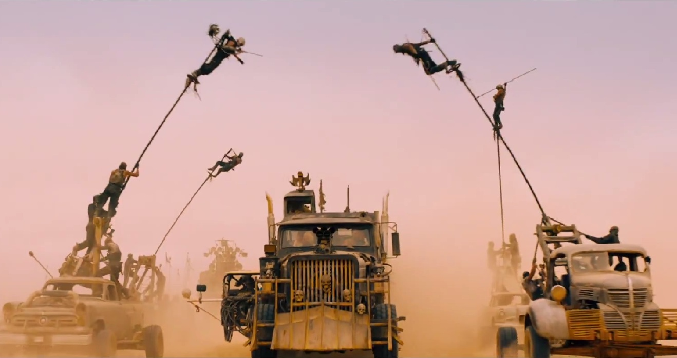 The War Rig under attack from the Polecats