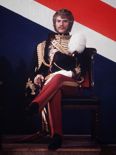 Malcolm McDowell as Flashman - 1975