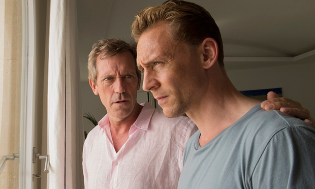 Hugh Laurie and Tom Hiddleston as Roper and Pine in  The Night Manager