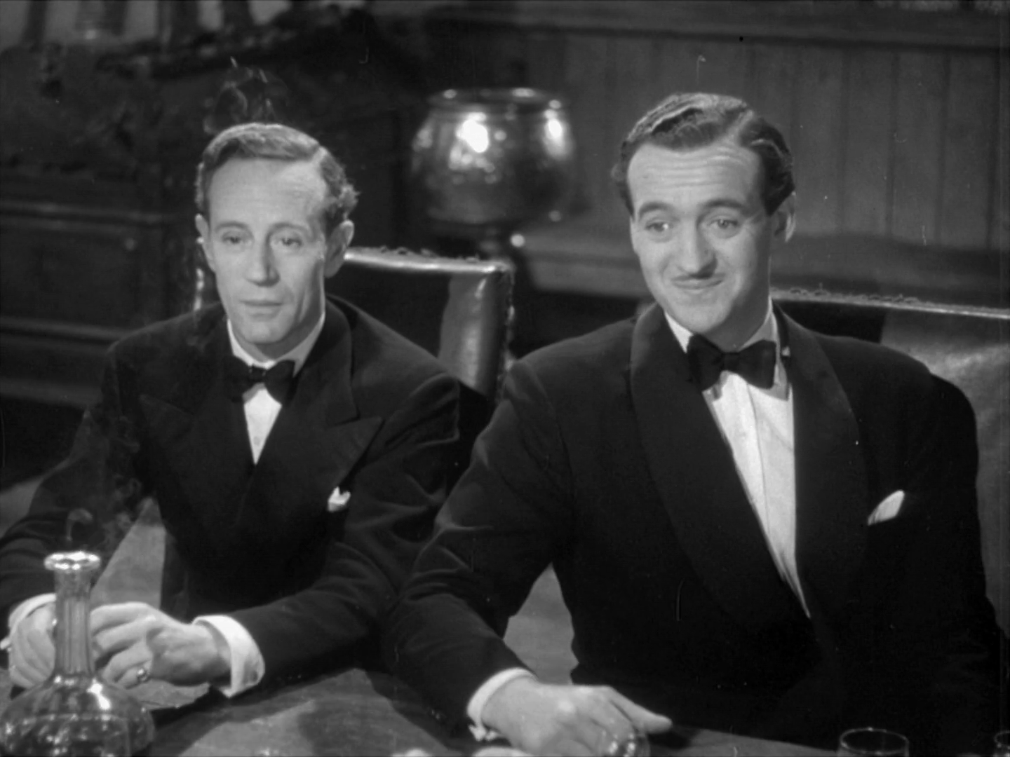 Howard and Niven in dinner attire in  The First of the Few