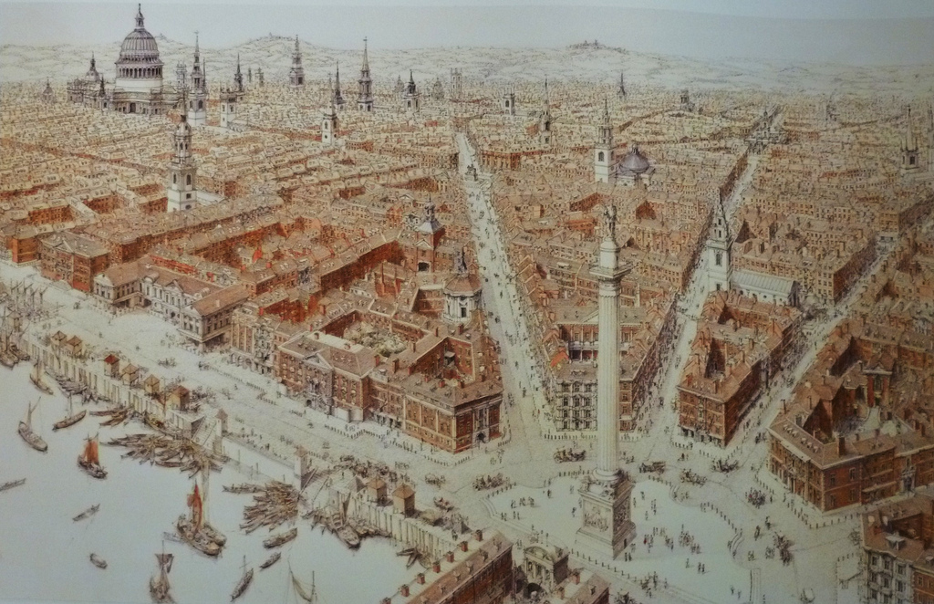 Sir Christopher Wren's grand plan for London.