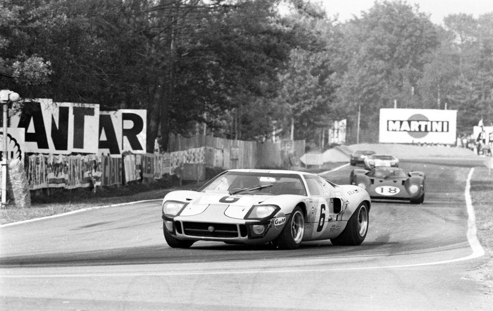 The 1969 John Wyer run MK I GT40 in Gulf Racing colours of Belgian Jackie Ickx and Englishman Jackie Oliver